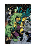Hulk No.8 Cover: Hulk, Sentry and Ms. Marvel Arte por Arthur Adams