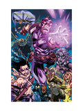 Dark Reign: Young Avengers 4 Group: Hawkeye, Hulkling and Speed Print by Mark Brooks