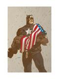 Captain America V4, No.23 Cover: Captain America Prints by Dave Johnson