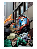 Spider-Man / Human Torch 3 Cover: Spider-Man and Human Torch Kunstdrucke von Templeton Ty