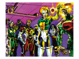 The Official Handbook Of The Marvel Universe Teams 2005 Group: Argento Prints by Paco Diaz