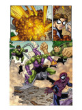 Marvel Adventures Spider-Man 12 Group: Spider-Man, Green Goblin, Sandman and Doctor Octopus Print by Mike Norton