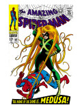 The Amazing Spider-Man 62 Cover: Spider-Man and Medusa Fighting Posters by John Romita Sr.