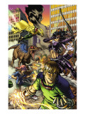 Secret Invasion: Runaways/Young Avengers 3 Cover: Vision, Hawkeye, Stein and Chase Prints by Michael Ryan