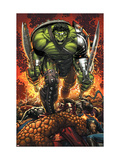 World War Hulk Prologue: World Breaker Cover: Hulk Affiches par Romita Jr. John
