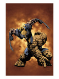 X-Men / Fantastic Four No.4 Cover: Thing and Wolverine Prints by Pat Lee