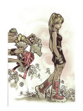 New Mutants No.8 Cover: Collins and Laurie Planscher av Chris Bachalo