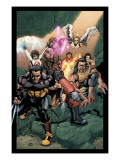 Ultimate X-Men 89 Group: Wolverine, Bishop, Beast and Angel Prints by Salvador Larroca