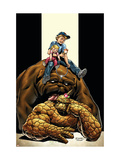 The Thing No.4 Cover: Thing, Richards, Franklin, Richards, Valeria and Lockjaw Prints by Andrea Di Vito