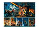 Secret War No.4 Group: Thing, Captain America, Mr. Fantastic, Invisible Woman and Fantasticar Posters