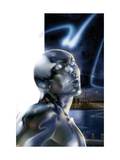 Ultimate Fantastic Four 43 Headshot: Silver Surfer Print by Ferry Pasqual