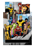 Exiles No.56 Group: Spider-Man, Mimic, Morph, Blink, Namora and Exiles Prints by James Calafiore