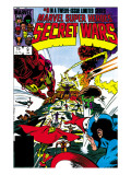 Secret Wars 9 Cover: Captain America, Iron Man, Thor, Hulk and Galactus Prints by Mike Zeck