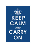 Keep Calm (navy) Giclee Print