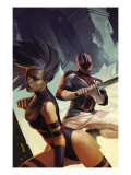 X-Men: Die By The Sword 5 Cover: Psylocke and Captain Britain Swinging Posters