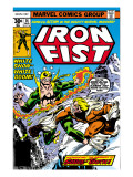 Iron Fist 14 Cover: Iron Fist and Sabretooth Art by Byrne John
