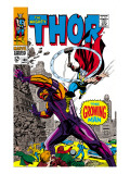 Thor No.140 Cover: Thor and Growing Man Fighting Art by Jack Kirby