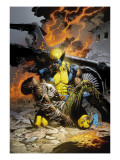 X-Men Deadly Genesis No.3 Cover: Wolverine Fighting Print by Trevor Hairsine