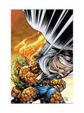 Marvel Adventures Fantastic Four 33 Cover: Rhino, Thing and Human Torch Posters by Tom Grummett