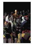 X-Men: Legacy No.225 Cover: Cyclops, Marvel Girl, Beast, Angel, Storm and Professor X Poster par Daniel Acuna