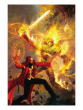 Strange No.6 Cover: Dr. Strange and Dormammu Fighting Prints