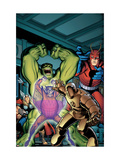 Avengers Classic 2 Cover: Hulk, Giant Man, Iron Man, Thor and Space Phantom Affiches par Arthur Adams