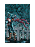 Captain America & The Falcon No.14 Cover: Captain America Prints by Dan Jurgens