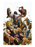 Agents of Atlas 5 Cover: Namora, Ms. Marvel, Wolverine, M-11, Spider-Man and Gorilla-Man Prints by Tan Billy