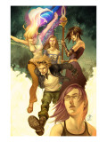Runaways No.1 Cover: Dean, Karolina, Minoru, Nico, Hayes, Molly, Stein, Chase and Runaways Prints by Jo Chen
