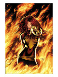 X-Men: Phoenix - Endsong 1 Cover: Phoenix, Grey and Jean Print by Land Greg