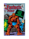Fantastic Four 51 Cover: Invisible Woman and Thing Art by Jack Kirby