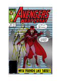 Avengers West Coast 47 Cover: Scarlet Witch and Vision Print by Byrne John