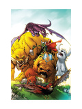 Tails of the Pet Avengers 1 Cover: Lockjaw, Lockheed, Zabu, Redwing, Hairball, Ms. Lion and Throg Art by Humberto Ramos