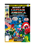 What If 5 Cover: Captain America and Red Skull Flying Prints by George Tuska