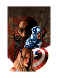 Captain America No.36 Cover: Captain America and Black Widow Posters by Epting Steve