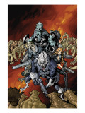 Nick Furys Howling Commandos 4 Cover: Warwolf Prints by Canete Eric