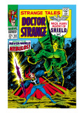 Strange Tales No.162 Cover: Dr. Strange and Nebulos Flying Art by Dan Adkins