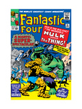 The Fantastic Four No.25 Cover: Hulk Láminas por Jack Kirby