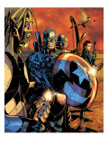 Ultimate War No.3 Group: Thor and Captain America Prints by Chris Bachalo