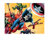 Fallen Son: The Death Of Captain AmericaNo.5 Group: Captain America Poster von John Cassaday