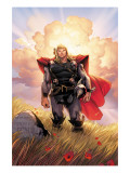 Thor No.10 Cover: Thor Jumping Posters by Olivier Coipel