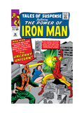 Tales Of Suspense 56 Cover: Iron Man and Unicorn Fighting Prints by Don Heck