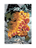 Marvel Age Fantastic Four No.6 Cover: Thing and Human Torch Fighting Pósters por Makoto Nakatsuki