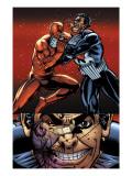 Daredevil Vs. Punisher No.6 Cover: Daredevil and Punisher Prints by Dave Lapham