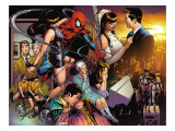 The Amazing Spider-Man 545 Group: Spider-Man, Parker, Peter, Mary Jane Watson, and May Parker Prints by Joe Quesada