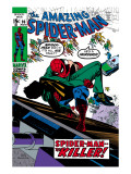 Amazing Spider-Man 90 Cover: Spider-Man and Captain Stacy Fighting Posters by Gil Kane