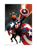 Captain America No.600 Cover: Captain America and Bucky Art by Steve Epting