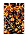 Dark Avengers 2 Cover: Iron Patriot, Ares, Ms. Marvel, Marvel Boy, Hawkeye and Spider-Man Affiches par Mike Deodato Jr.