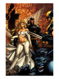 Uncanny X-Men 494 Cover: Beast, Emma Frost, Cyclops and Wolverine Posters by David Finch