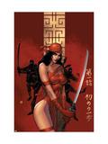 Elektra The Hand No.1 Cover: Elektra Fighting Kunstdrucke von Sienkiewicz Bill